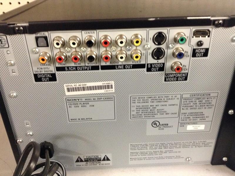 SONY DVD Player DVP-CX995V