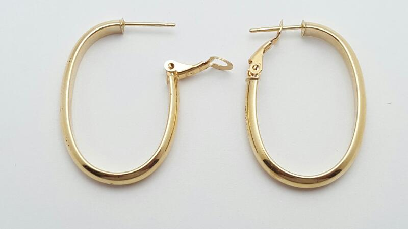 Gold Earrings 14K Yellow Gold 2.3g
