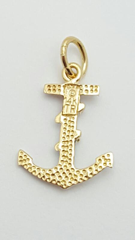 Gold Anchor Charm 14K Yellow Gold 1g