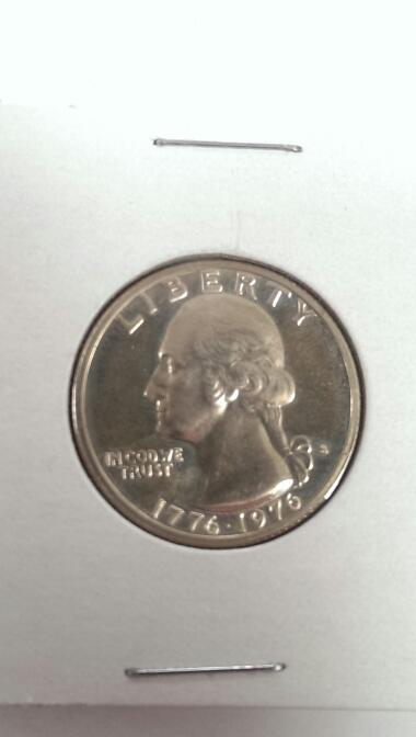 1976-S Bicentennial 1776-1976 Washington Quarter 25c