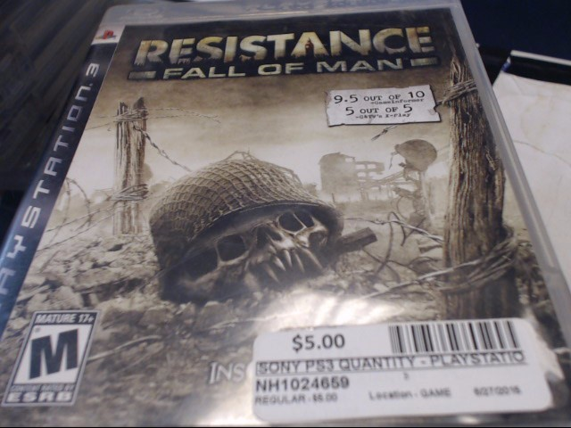 SONY PS3 RESITANCE FALL OF MAN