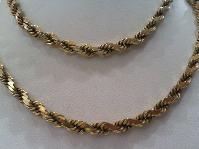 Gold Rope Chain 14K Yellow Gold 25.1g