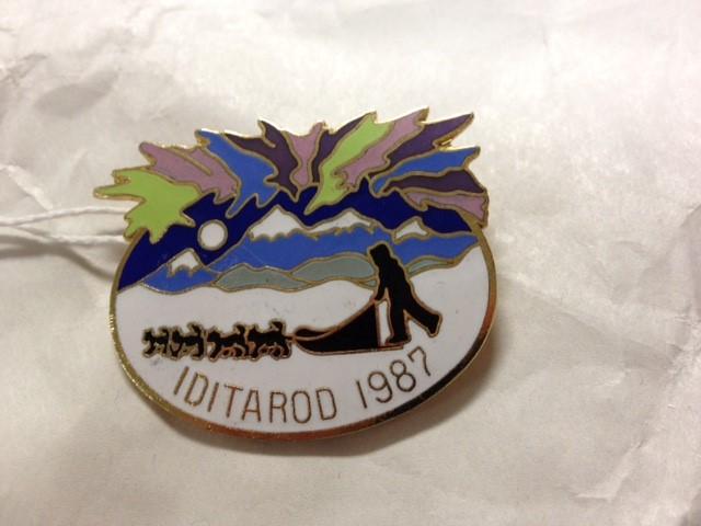 1987 IDITAROD PIN