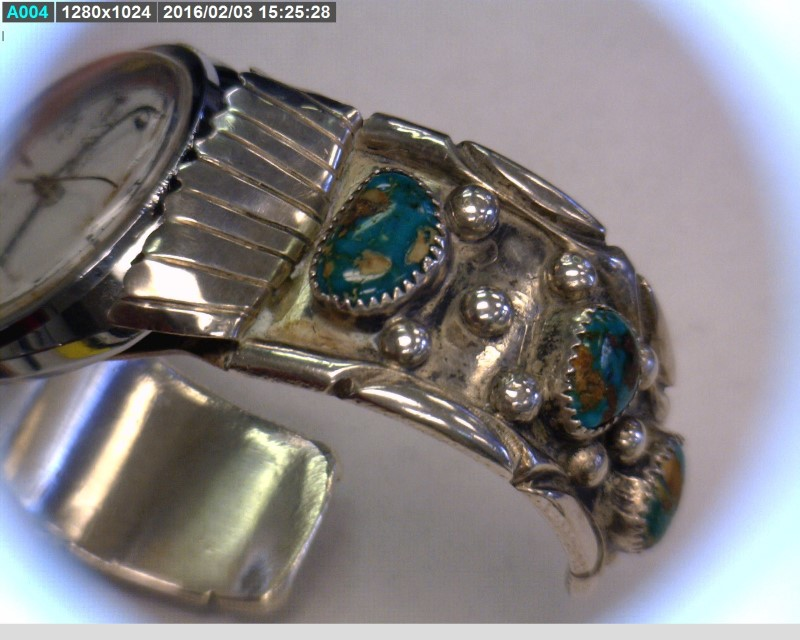 Turquoise Silver-Stone Bracelet 925 Silver 87.02dwt
