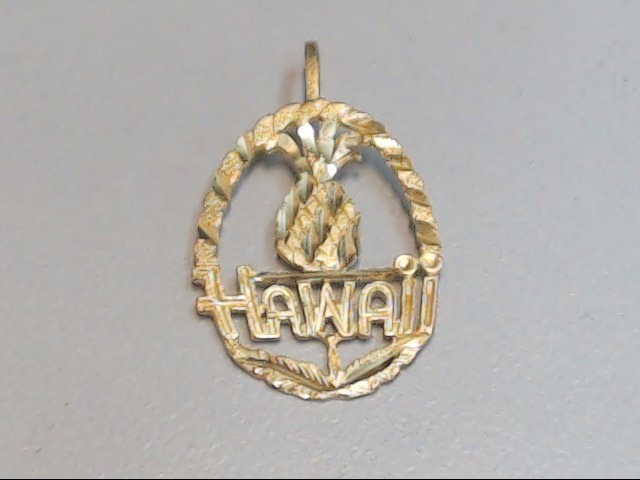 HAWAII PINEAPPLE CHARM PENDANT SOLID 14K YELLOW GOLD SOUVENIR TRIP