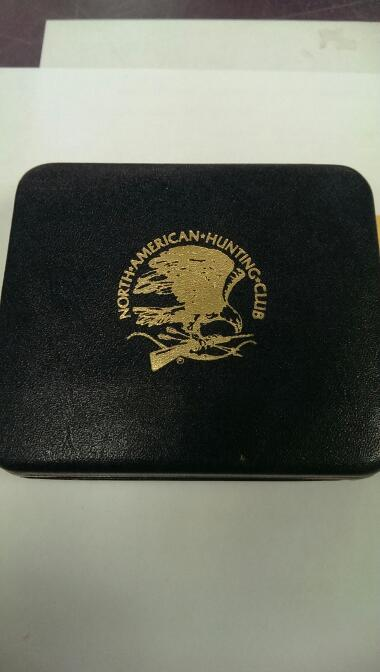 North American Hunting Club Belt Buckle Gold/Silver Plated Over Brass