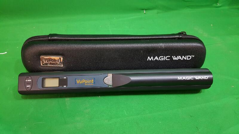 VU POINT MAGIC WAND Hand Held Scanner w/ CARRYING CASE