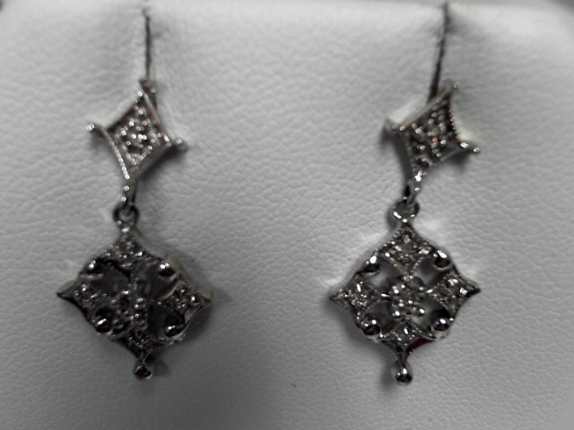 Diamond 14K White Gold 3.8g Earrings
