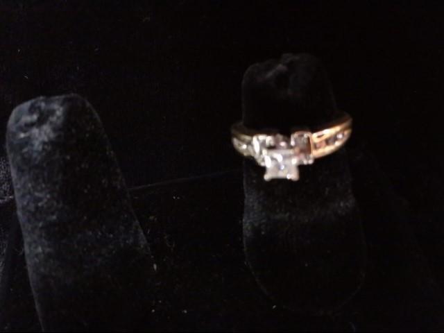 Lady's Diamond Solitaire Ring 7 Diamonds .51 Carat T.W. 14K Yellow Gold 5g