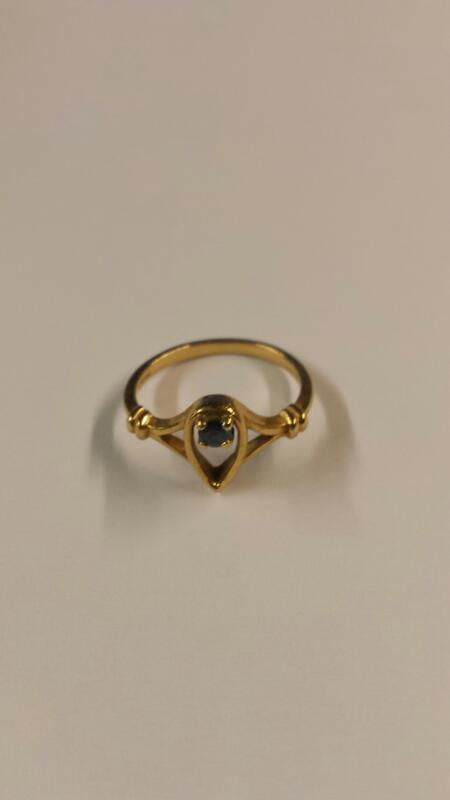Sapphire Lady's Stone Ring 14K Yellow Gold 1.43dwt