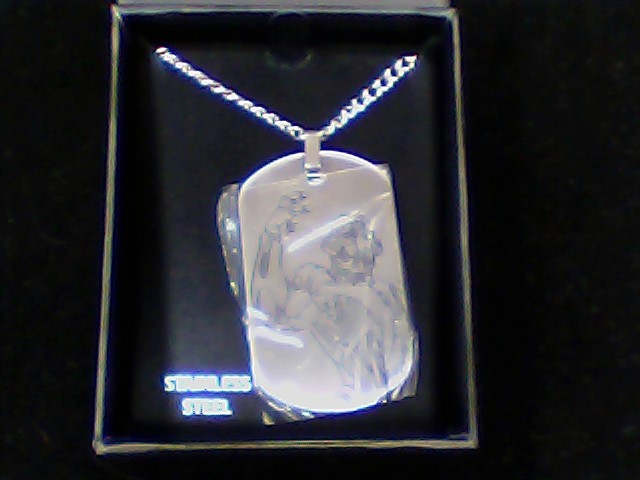 "22"" Necklace/Pendant Silver Stainless 22.7g"