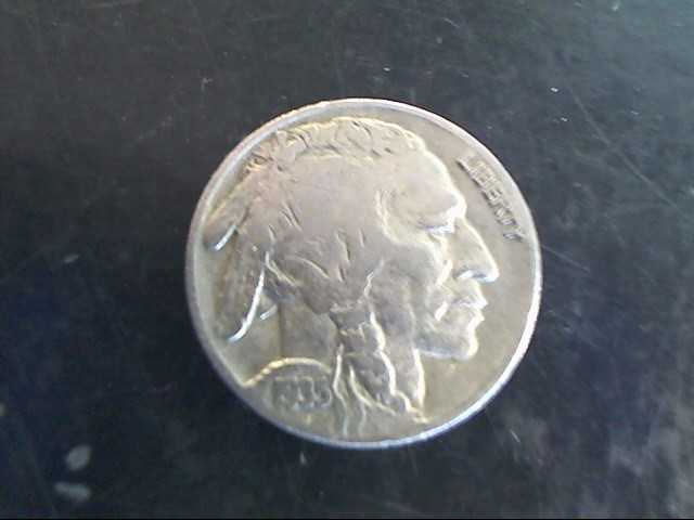 UNITED STATES Silver Coin 1935 BUFFALO