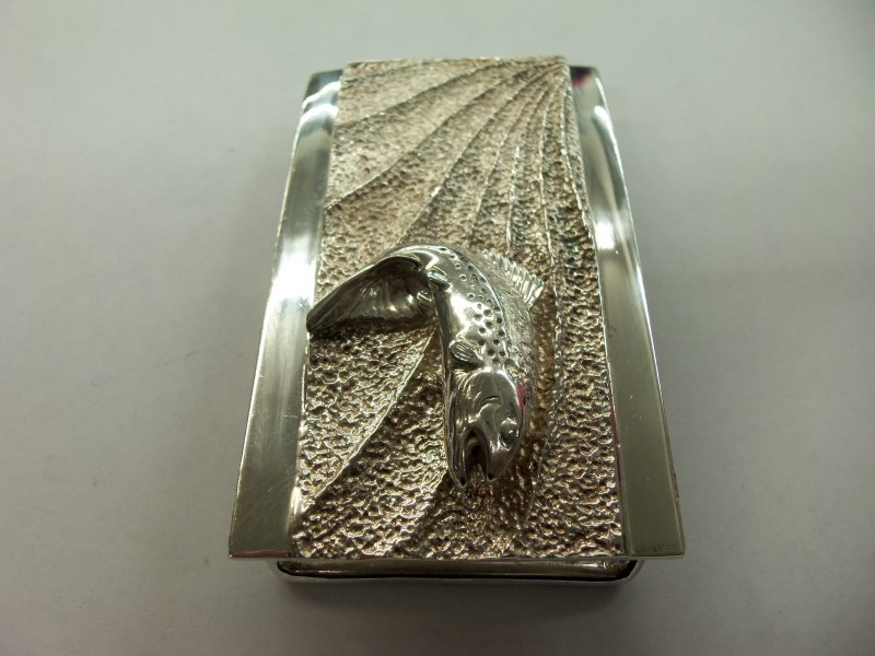 "STERLING SILVER ""FISH"" BELT BUCKLE 925 83.3g"