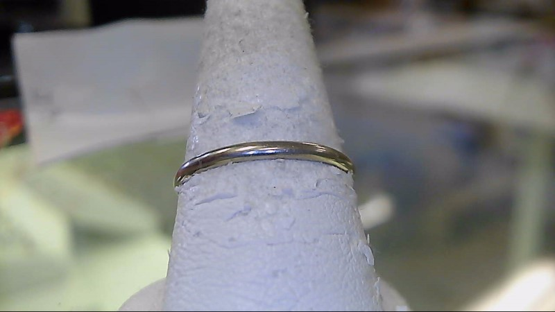 Lady's Gold Wedding Band 10K White Gold 1.1g