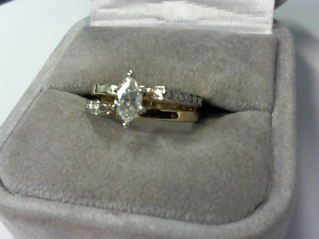 Lady's Diamond Engagement Ring 13 Diamonds .53 Carat T.W. 14K Yellow Gold 4.3g