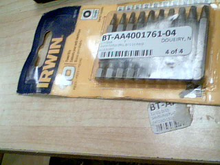 IRWIN TOOLS Drill Bits/Blades 10 PIECE POWER BIT SET 1857003