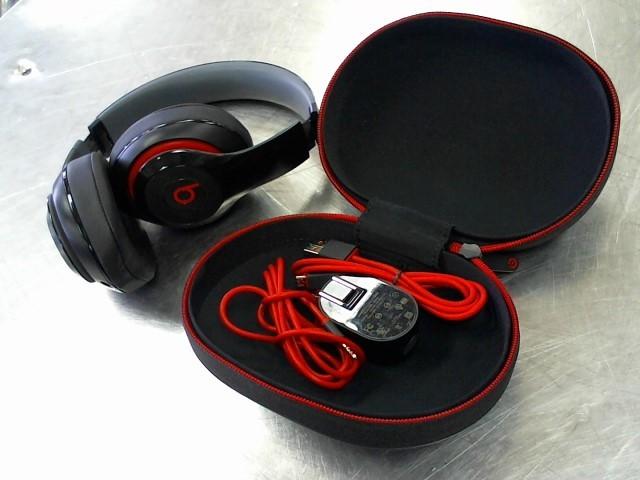 BEATS AUDIO Headphones STUDIO BLACK/RED