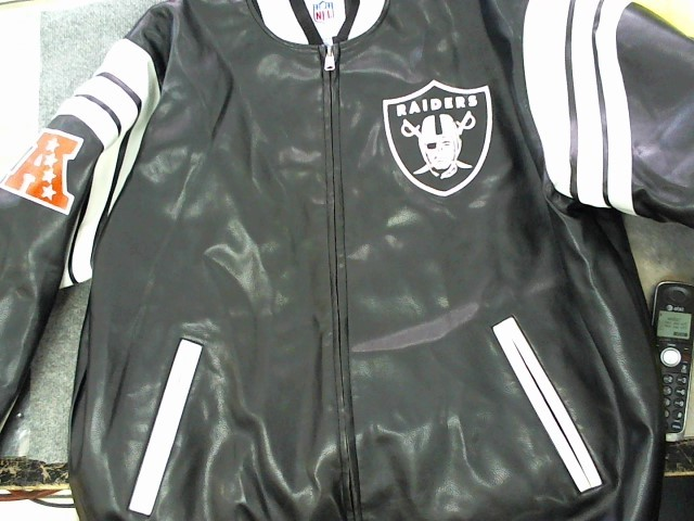 NFL Coat/Jacket RAIDERS BLACK LEATHER JACKET