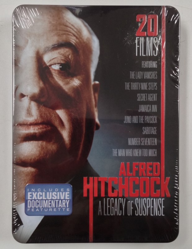 DVD BOX SET ALFRED HITCHCOCK A LEGACY OF SUSPENSE 4 DVDS 20 FILMS