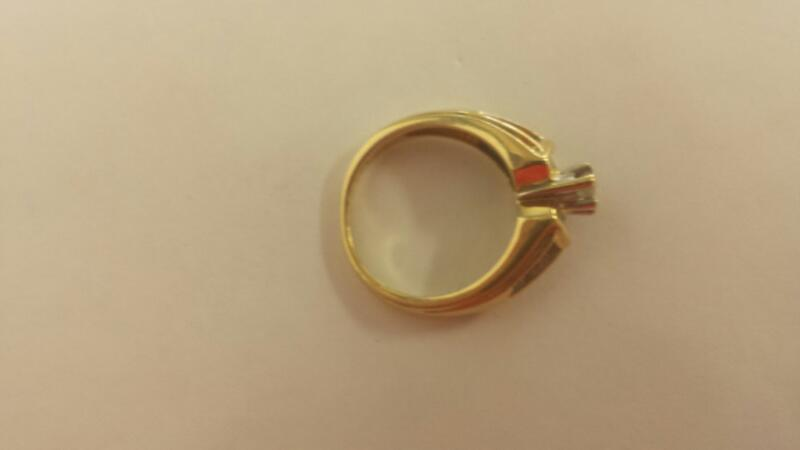 Lady's Diamond Engagement Ring 23 Diamonds .69 Carat T.W. 14K Yellow Gold