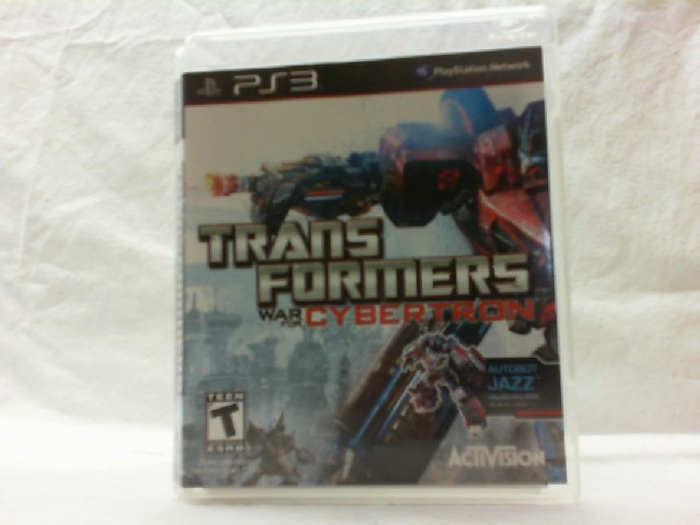 SONY Sony PlayStation 3 Game TRANSFORMERS WAR FOR CYBERTRON