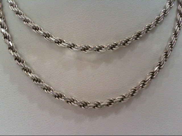 """19"""" Silver Rope Chain 925 Silver 13.2g"""