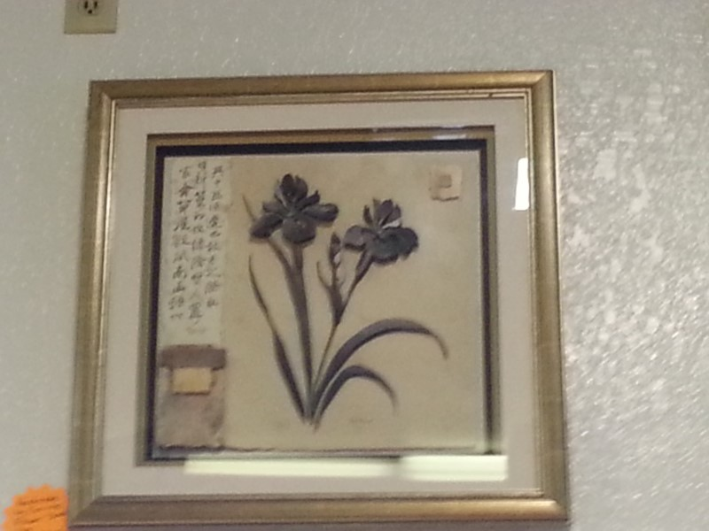 """GLADDING"" FLOWER SHADOW BOX BY CORRINE"