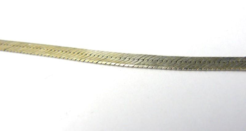 Silver Herringbone Bracelet 925 Silver 2.17dwt
