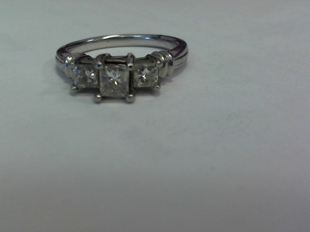 Lady's Platinum Diamond Fashion 3 Diamonds 1.41 Carat T.W. 950 Platinum 4.2dwt