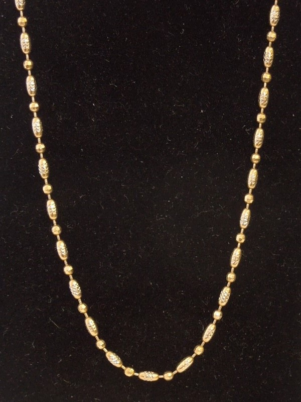 "20"" Gold Fashion Chain 14K Yellow Gold 7.2g"