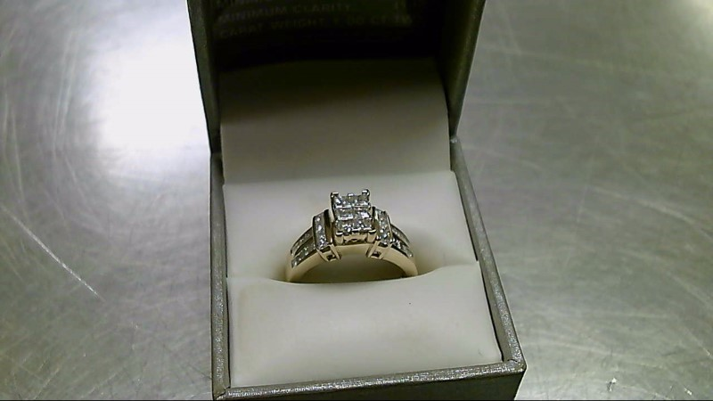 Lady's Diamond Cluster Ring 30 Diamonds 2.32 Carat T.W. 10K Yellow Gold 5.3g