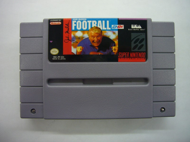 NINTENDO SNES Game JOHN MADDEN FOOTBALL *CARTRIDGE ONLY*