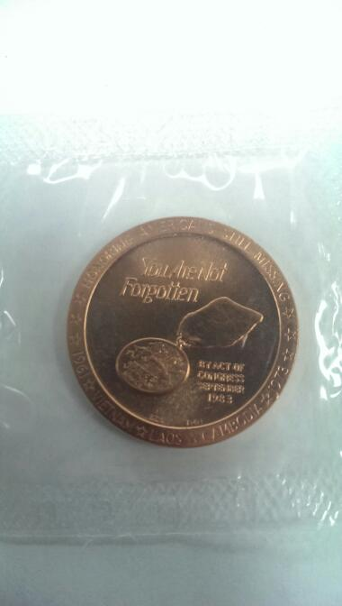 VIETNAM VETERANS YOU ARE NOT FOR FORGOTTEN COIN