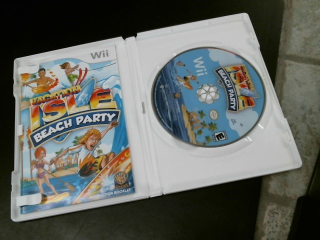 NINTENDO Nintendo Wii Game WII VACATION ISLE BEACH PARTY