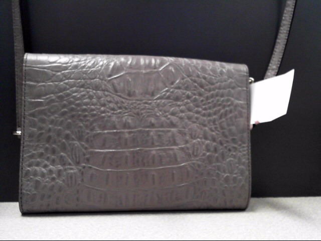 KATE SPADE GREY FAUX CROC SHOULDER BAG