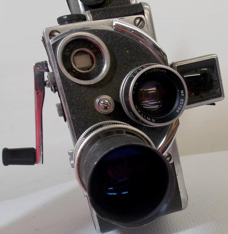 1950's BOLEX H-16 F16mm Movie Camera, SWITAR 1:1,4 25MM, YVAR 1:2,8 75MM LENSES