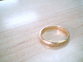 Lady's Gold Wedding Band 14K Yellow Gold 2.6g Size:7