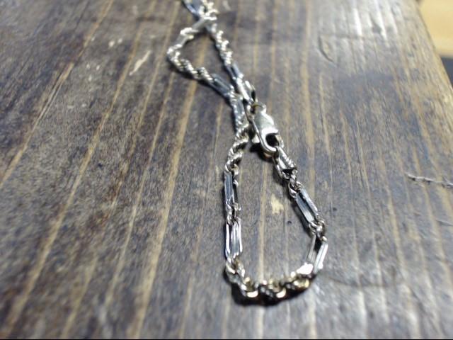 "10"" Gold Rope Bracelet 14K 2 Tone Gold 4.7g"