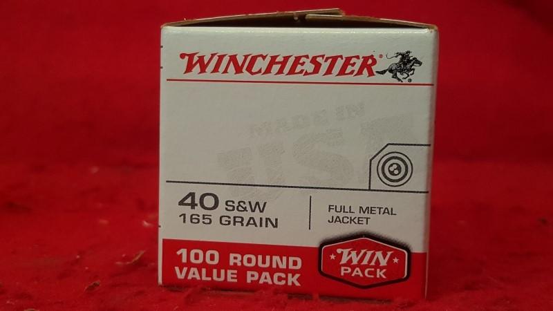 WINCHESTER Ammunition 40 S&W 165 GR.FMJ 100RND