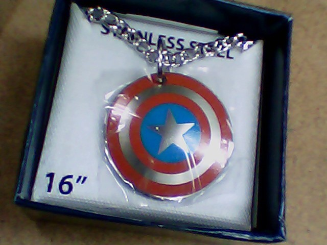 """16"""" Necklace/Pendant Silver Stainless 8.3g"""