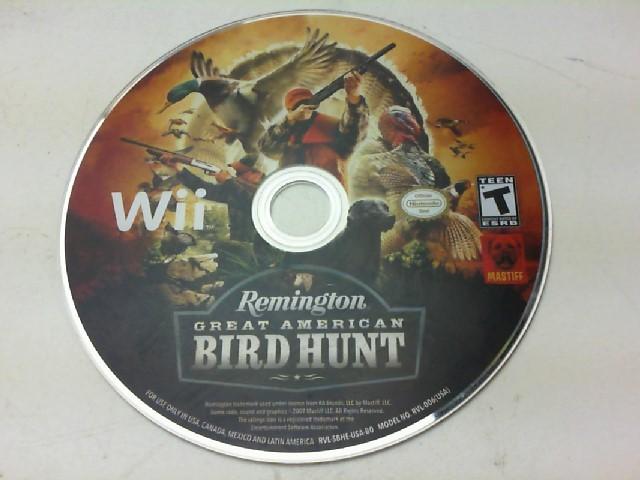 NINTENDO Nintendo Wii Game REMINGTON GREAT AMERICAN BIRD HUNT