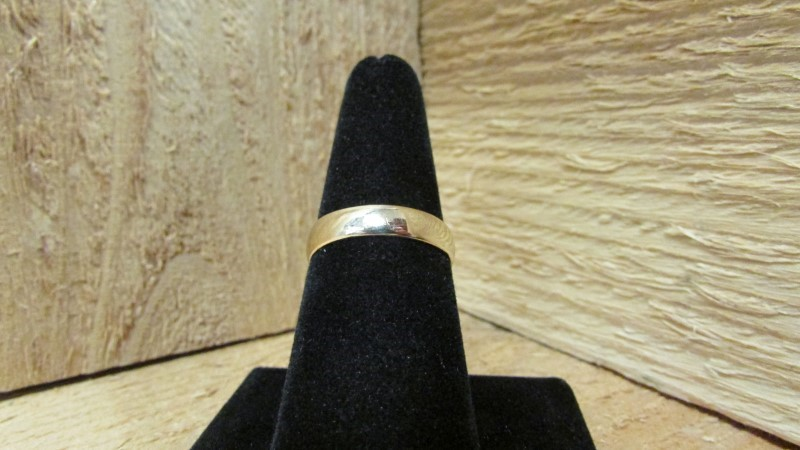 Gent's Gold Wedding Band 14K Yellow Gold 3g Size:9.5
