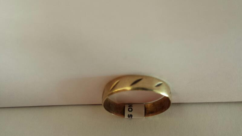 Gentlemen's 10k Yellow Gold Design Ring, Bent