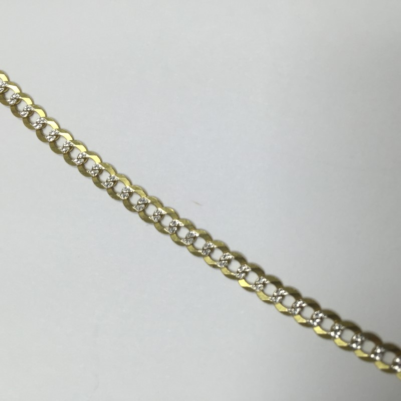 "20"" Gold Link Chain 10K 2 Tone Gold 4.5dwt"