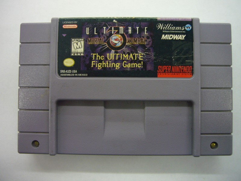 "SNES ULTIMATE MORTAL KOMBAT 3 ""GAME ONLY"""
