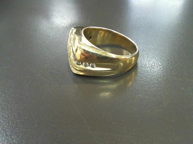 Gent's Diamond Fashion Ring 15 Diamonds 1.20 Carat T.W. 14K Yellow Gold 11.4g
