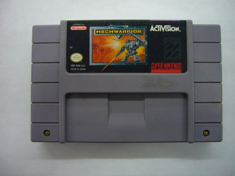 NINTENDO SNES Game MECHWARRIOR *CARTRIDGE ONLY*