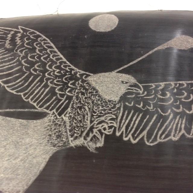 BALEEN EAGLE IN FLIGHT BY JOHN NICHOLS