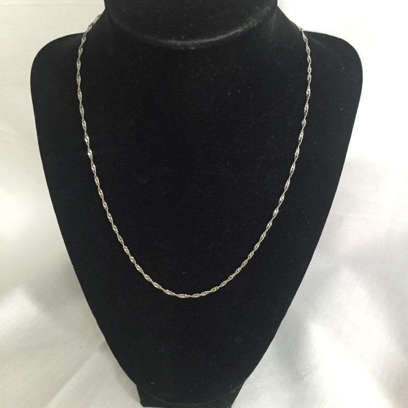 "18"" Gold Chain 14K White Gold 1.7dwt"
