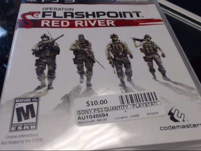 SONY PS3 FLASHPOINT RED RIVER